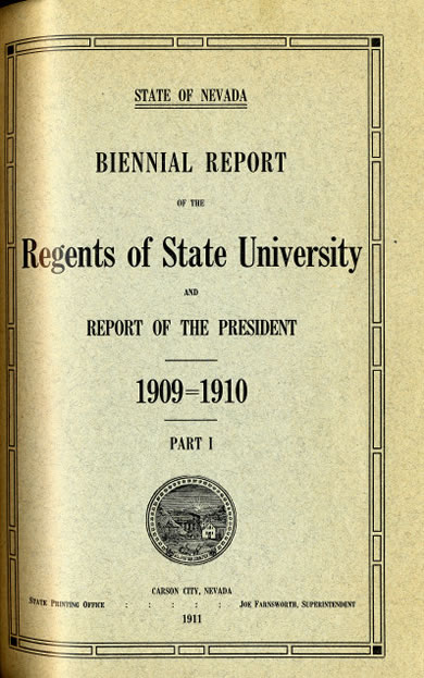 Biennial Report of the Regents of State University
