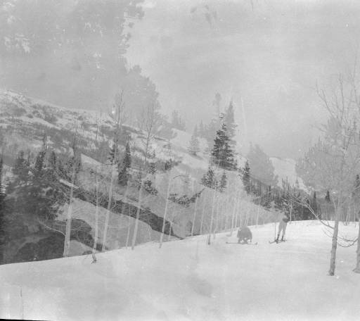 E.B. Olesen Photograph Collection- Skiers