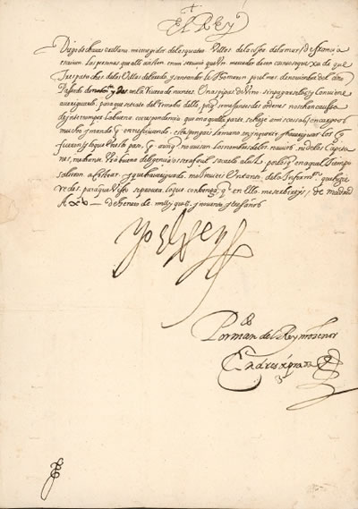 1593-01-15 Letter to Diego de Orellana de Chaves