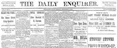 The Daily Enquirer Newspaper 1891-12-08 vol. 5 no. 7