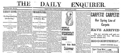 The Daily Enquirer Newspaper 1896-02-08 vol. 13 no. 58