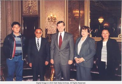 Governor Walker with the Ambassador from Kazakhstan