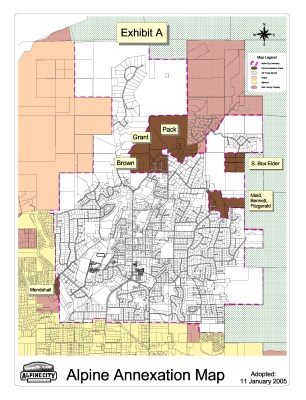 Alpine annexation map