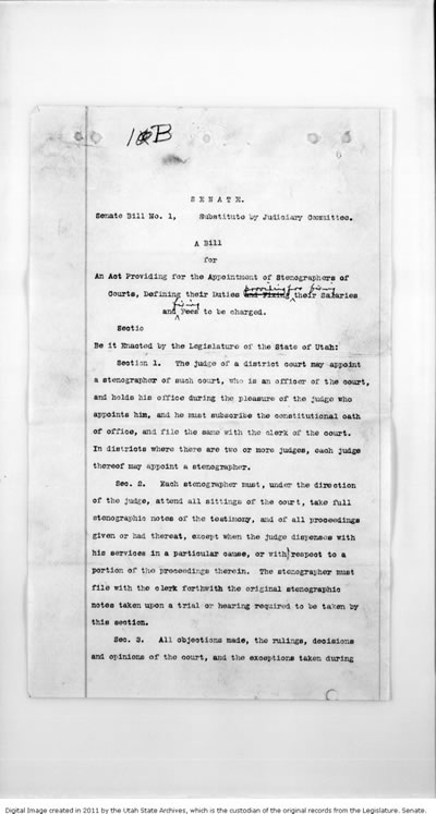 1896 Session Bill 1