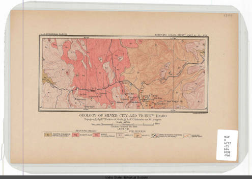 Geology of Silver City and vicinity, Idaho
