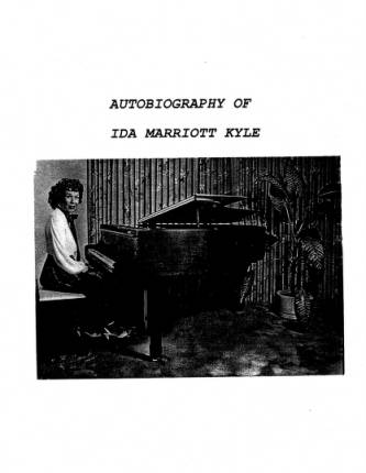 Autobiography of Ida Marriot Kyle
