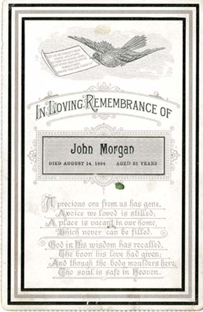 Miscellaneous biography research material about John Hamilton Morgan