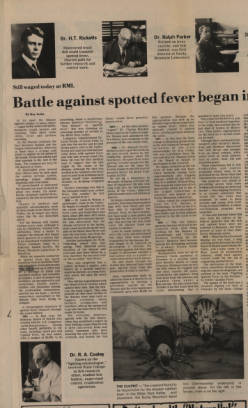 Battle against Rocky Mountain Spotted fever