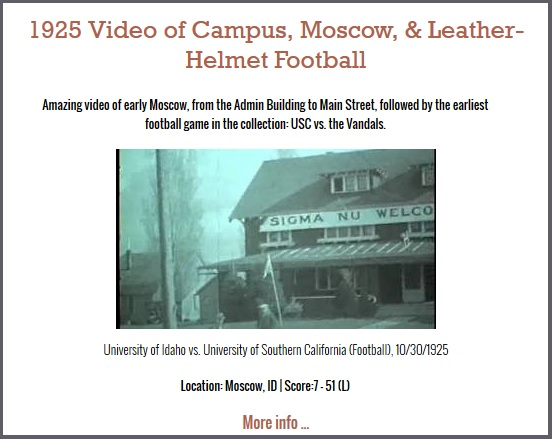 1925 Video of Campus, Moscow, & Leather-Helmet Football